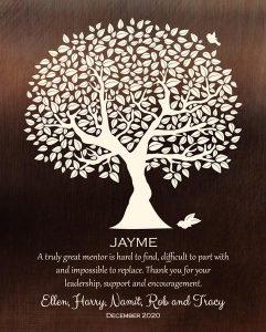 Custom Mentor Gift Art Proof for Dr. Jayme T.
