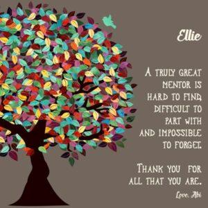 Custom Mentor Gift Art Proof for Ellie G.