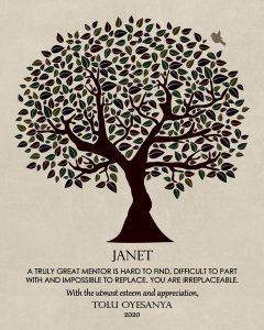 Custom Mentor Gift Art Proof for Janet Prvu B.