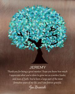 Custom Mentor Gift Art Proof for Jeremy M.