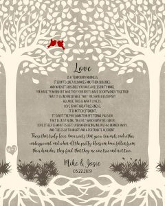 Custom Wedding Day Gift Art Proof for Josephone P.