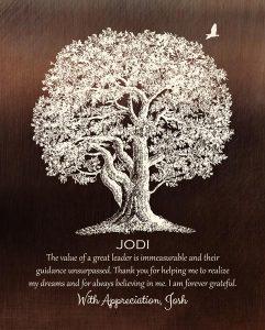 Custom Mentor Gift Art Proof for Joshua S.
