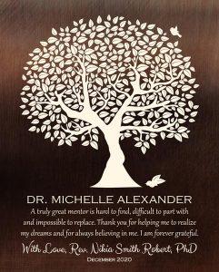 Custom Mentor Gift Art Proof for Michelle A.