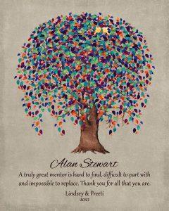Custom Mentor Gift Art Proof for Alan S.