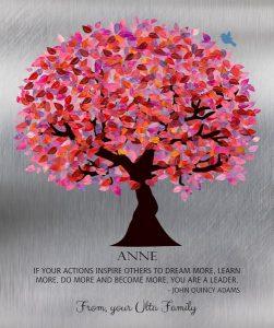 Custom Mentor Gift Art Proof for Anne F.