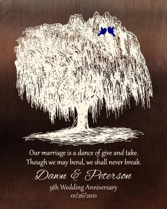 Personalized 9 Year Anniversary Gift Custom Art Proof for Dawn D.