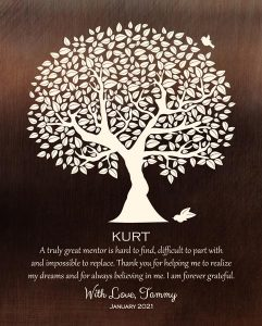 Custom Mentor Gift Art Proof for Kurt S,