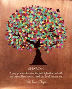 Custom Mentor Gift Art Proof for Sharon L.