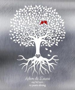 Custom 10 Year Anniversary Gift Art Proof for Adam M.