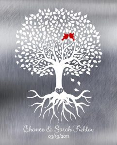 Custom 10 Year Anniversary Gift Art Proof for Chance F.