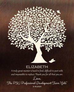 Custom Mentor Gift Art Proof for Elizabeth K.