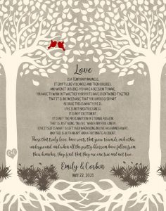 Custom Wedding Day Gift Art Proof for Mary Jean A.