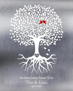 Custom 10 Year Anniversary Gift Art Proof for Nirav P.
