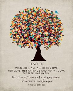 Read more about the article Custom Gift for Teacher Art Proof for Angela S.
