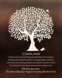 Custom Mentor Gift Art Proof for Carolann W.
