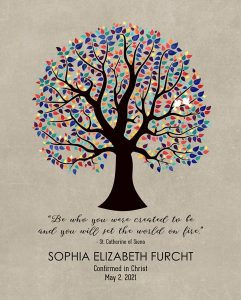 Read more about the article Custom Confirmation Communion Art Proof for Elizabeth F.