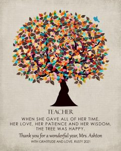 Read more about the article Custom Gift for Teacher Art Proof for Heidi M.