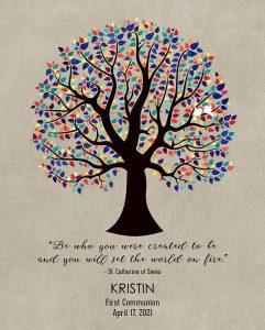 Custom Confirmation Communion Art Proof for Kristin D.