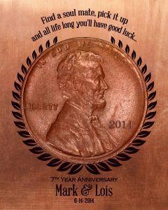 Read more about the article Personalized 7 Year Anniversary Gift Custom Art Proof for Mark V.