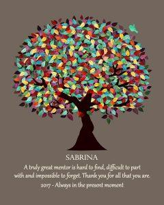 Custom Mentor Gift Art Proof for Sabrina I.