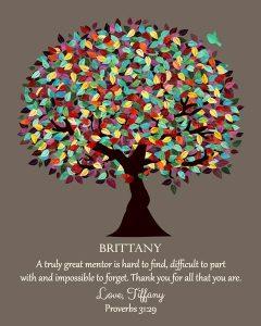 Custom Mentor Gift Art Proof for Tiffany H.
