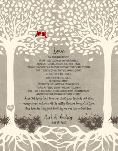 Read more about the article Custom Wedding Day Gift Art Proof for Audrey L.