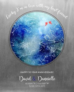 Custom 10 Year Anniversary Gift Art Proof for Dannielle V.