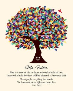 Read more about the article Custom Gift for Teacher Art Proof for Gena C.