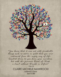 Read more about the article Custom Confirmation Communion Art Proof for Joan M.