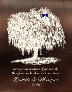 Personalized 9 Year Anniversary Gift Custom Art Proof for Marques W.