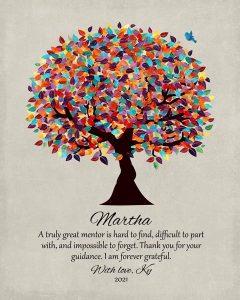 Custom Mentor Gift Art Proof for Martha H.