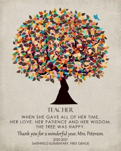 Read more about the article Custom Gift for Teacher Art Proof for Mary F.