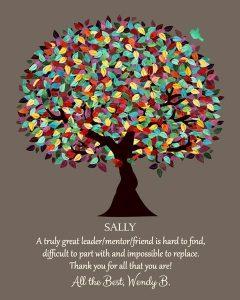 Custom Mentor Gift Art Proof for Sally B.