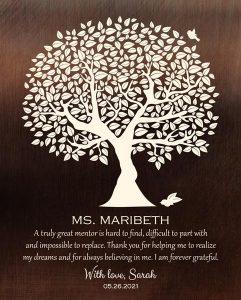Custom Mentor Gift Art Proof for Sarah T.