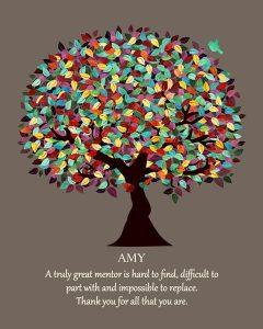 Custom Mentor Gift Art Proof for Amy E.