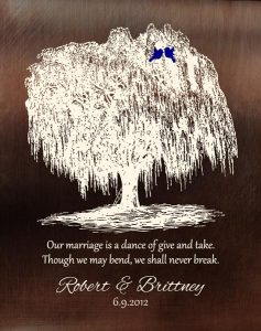 Personalized 9 Year Anniversary Gift Custom Art Proof for Brittney N.