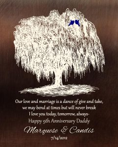 Personalized 9 Year Anniversary Gift Custom Art Proof for Candis M.