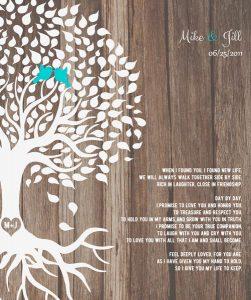 Custom Wedding Day Gift Art Proof for Jill K.