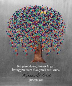 Custom 10 Year Anniversary Gift Art Proof for Kristina P.