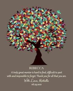 Custom Mentor Gift Art Proof for Sandra M. R.
