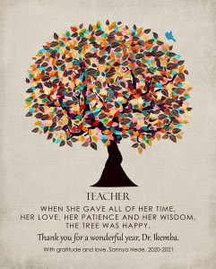 Read more about the article Custom Gift for Teacher Art Proof for Sannya H.