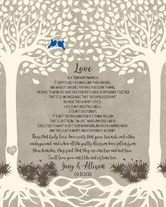 Custom Wedding Day Gift Art Proof for Allison L.