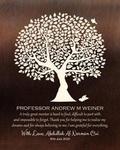 Custom Mentor Gift Art Proof for Andrew M.W.