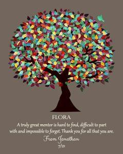 Custom Mentor Gift Art Proof for Flora V.