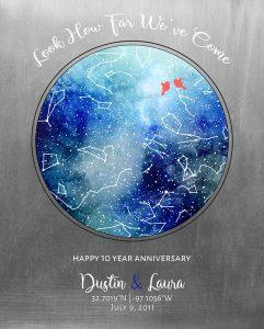 Custom 10 Year Anniversary Gift Art Proof for Laura H.