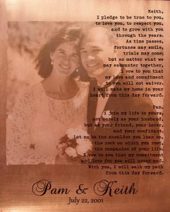Read more about the article Personalized 7 Year Anniversary Gift Custom Art Proof for Pamela P.