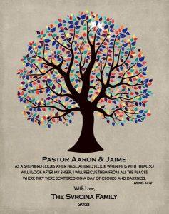 Custom Pastor Gift Art Proof for Pastor Aaron