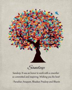 Custom Mentor Gift Art Proof for Sandeep S.