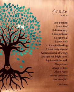 Read more about the article Personalized 7 Year Anniversary Gift Custom Art Proof for Carolyn N.