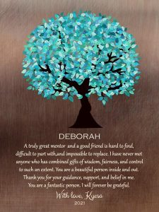 Read more about the article Custom Mentor Gift Art Proof for Deboirah C.